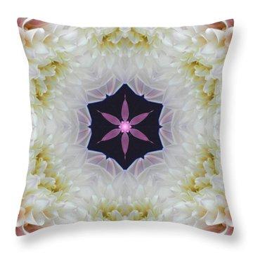 Opening To Love Mandala Throw Pillow