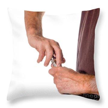 Opening Wine Q Throw Pillow