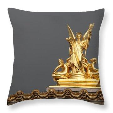 Opera De Paris Throw Pillow by Mary-Lee Sanders