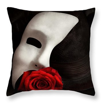 Opera - Mystery And The Opera Throw Pillow by Mike Savad
