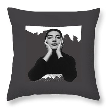 Opera Singer Maria Callas Cecil Beaton Photo No Date-2010 Throw Pillow by David Lee Guss