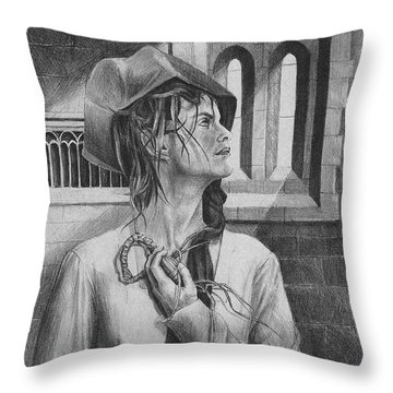 Ophelia Throw Pillow by Yvonne Wright