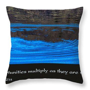 Opportunites Multiplied Throw Pillow by Omaste Witkowski