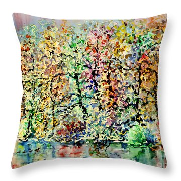 Opposite Riverside II Throw Pillow