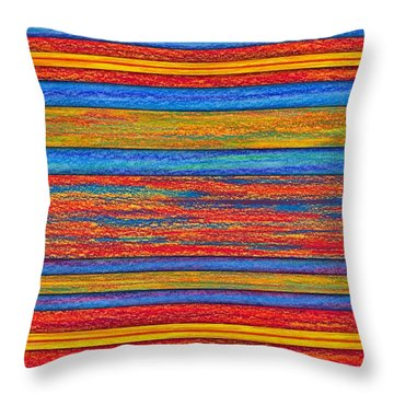 Opposites Divide Throw Pillow by David K Small