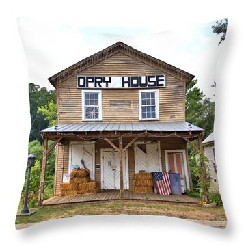 Throw Pillow featuring the photograph Opry House - Square by Gordon Elwell
