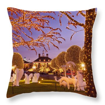Opryland Hotel Christmas Throw Pillow by Brian Jannsen