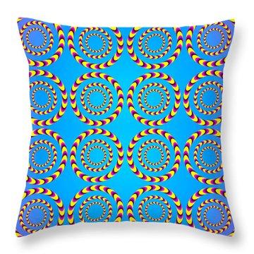 Optical Illusion Spinning Wheels Throw Pillow