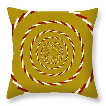 Optical Illusion Whirlpool Throw Pillow