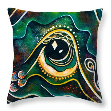 Throw Pillow featuring the painting Optimist Spirit Eye by Deborha Kerr