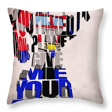 Optimus Prime Throw Pillow by Ayse and Deniz