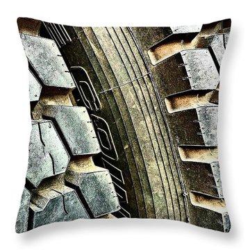 Optimus Prime's Tyres. #movies Throw Pillow