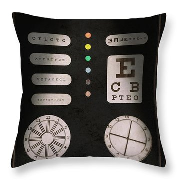 Optometrist - Optical Confusion Throw Pillow by Mike Savad