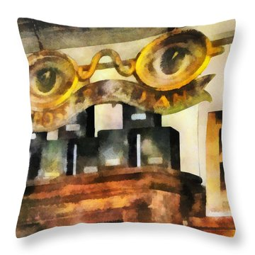 Optometrist - Spectacles Shop Throw Pillow by Susan Savad