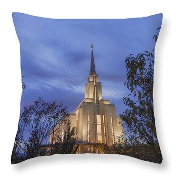 Oquirrh Mountain Temple II Throw Pillow