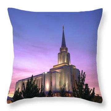 Oquirrh Mountain Temple Iv Throw Pillow