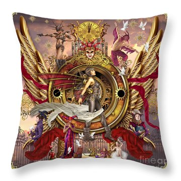 Oracle Of Visions Throw Pillow by Ciro Marchetti