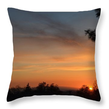 Orange-1 Throw Pillow by Tom Mansfield