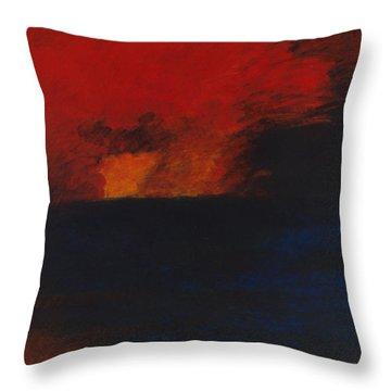 Orange 1985 Throw Pillow