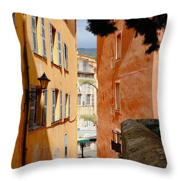 Orange Alley Throw Pillow
