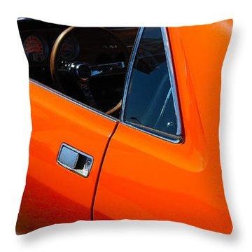 Orange Amx Throw Pillow