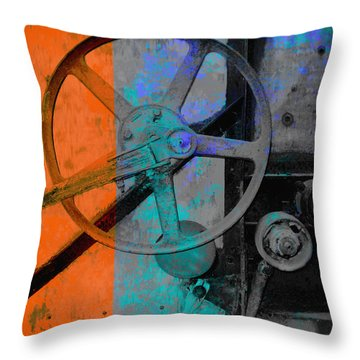 Orange And Blue  Throw Pillow