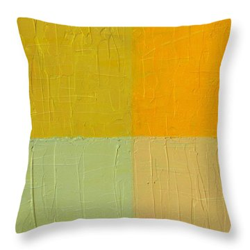 Orange And Mint Throw Pillow by Michelle Calkins