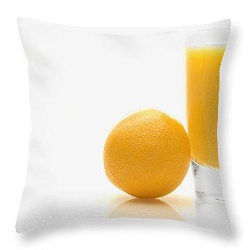 Orange And Orange Juice Throw Pillow by Darren Greenwood