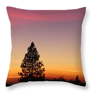 Orange And Pink Throw Pillow by Tom Mansfield