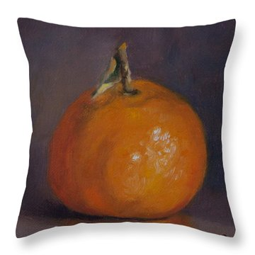Orange And Plump Throw Pillow by Debbie Lamey-MacDonald