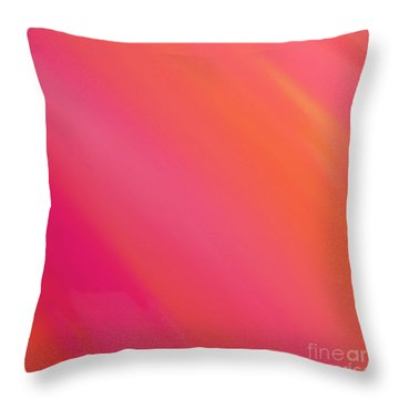 Orange And Raspberry Sorbet Abstract 3 Throw Pillow by Andee Design