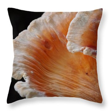 Orange And White Fungi Throw Pillow
