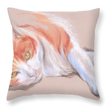 Orange And White Tabby Cat With Gold Eyes Pastel By Mm