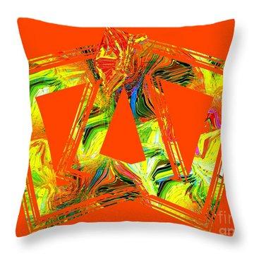 Orange And Yellow Art Throw Pillow by Mario Perez