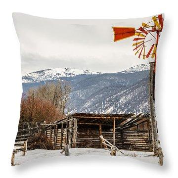 Orange And Yellow Windmill Throw Pillow