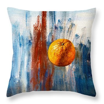 Orange Throw Pillow by Arturas Slapsys