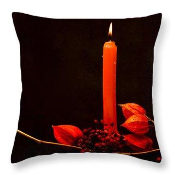 Orange Beauty Throw Pillow by Alexander Senin