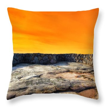 Orange Blaze Throw Pillow