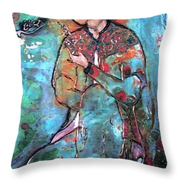 Orange Blossom Throw Pillow