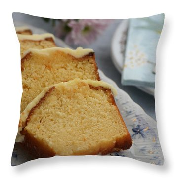 Orange Cake Throw Pillow
