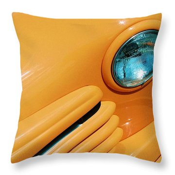 Orange Car Throw Pillow