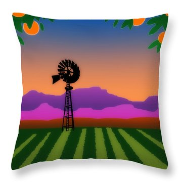 Orange County Throw Pillow
