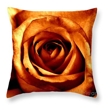 Orange Crush Throw Pillow by Peggy Hughes