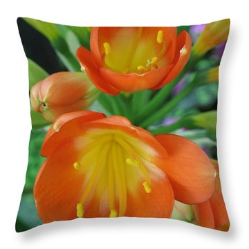 Orange Crush Throw Pillow