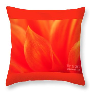 Throw Pillow featuring the photograph Orange Dahlia Abstract by Olivia Hardwicke