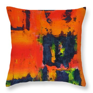 Orange Day Throw Pillow by Everette McMahan jr