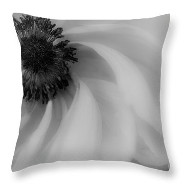 Orange Flower In Black And White Throw Pillow