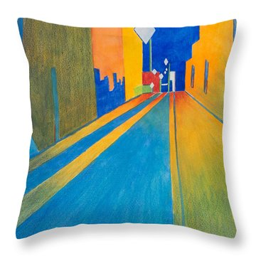 Orange France At Night Throw Pillow by Lee Beuther