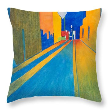 Orange France At Night Throw Pillow