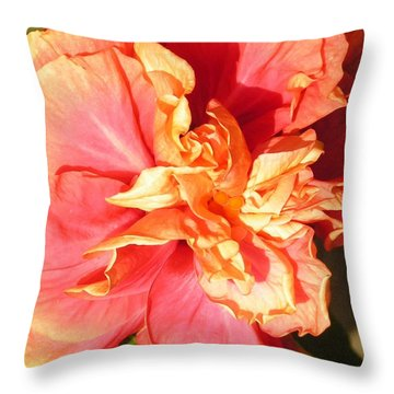 Orange Glow Throw Pillow